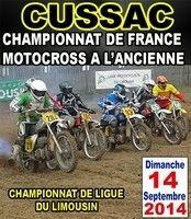 Championnat de France de Motocross à l'ancienne: la finale, c'est ce week end à Cussac (87).