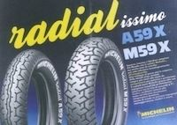 Michelin, 25 ans du pneumatique radial moto: flash back