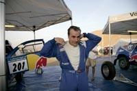 Carlos Sainz en course au volant d'une WRC