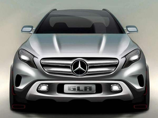 futur mercedes gla plus large et avec une d clinaison coup. Black Bedroom Furniture Sets. Home Design Ideas