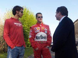 Valentino Rossi a testé la Ferrari de Michael Schumacher