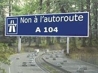 Manifestation : l'autoroute A 104 au coeur de la polémique et suivie à la trace