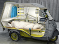 Un Piaggio APE transformé en (mini) camping-car