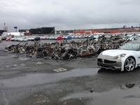 Quand l'ouragan Sandy met le feu aux Fisker Karma