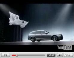 Vidéo Pub : Mercedes Classe C Estate : aérien