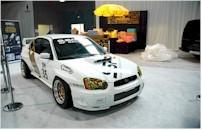 Une Subaru bien chaussée..
