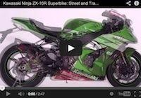 Kawasaki Ninja ZX-10R Superbike la comparaison entre les versions route et piste en vidéo