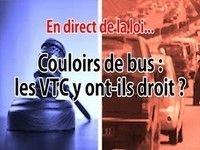 Question de droit : les VTC dans les couloirs de bus, légal?