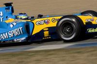 Giancarlo Fisichella en tête de la feuille des temps à Monza