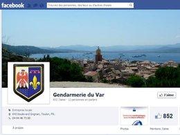 La gendarmerie du Var annonce les contrôles routiers sur facebook
