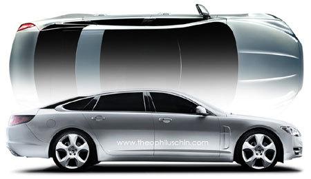 Nouvelle Jaguar XJ: comme ça?