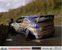 Le crash de Marcus Grönholm en vidéo