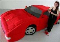 Une Ferrari en laine !!!!