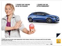 Renault innove ; 1 chance sur 300 de se faire rembourser sa voiture
