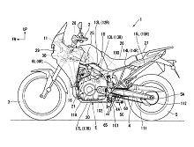 Nouveauté - Honda : revoilà des croquis suggérant une Transalp