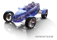 """Rinspeed et Bayer MaterialScience : le roadster écolo """"eXasis"""" qui a la patate !"""