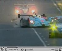 La PBR Courage C65 n°37 explose un pneu aux 24h du Mans 2006