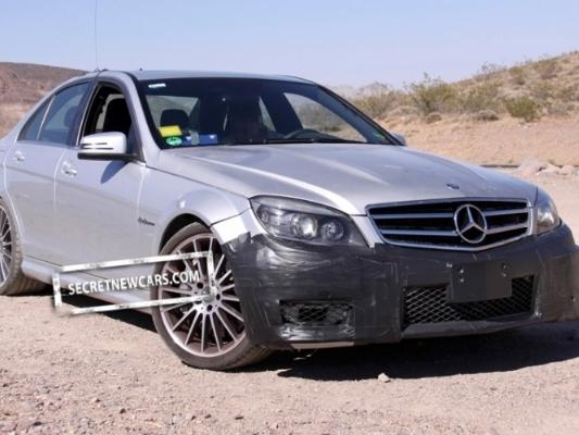 Spyshot : restylage à venir pour la Mercedes C63 AMG
