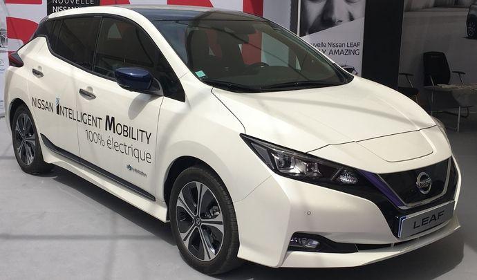 Nissan Leaf: incontournable - Vidéo en direct du salon de Val d'Isère 2018