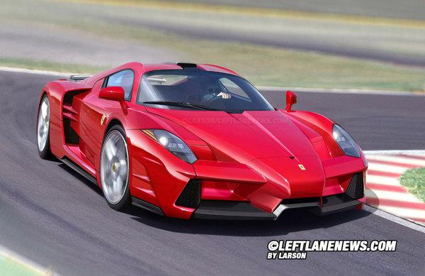 Future Supercar Ferrari : Larson la voit comme ça