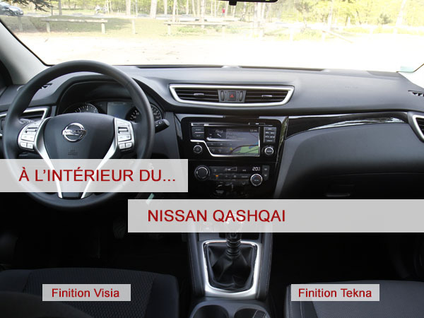 a l 39 int rieur du nissan qashqai 1 5 dci 110 ch. Black Bedroom Furniture Sets. Home Design Ideas