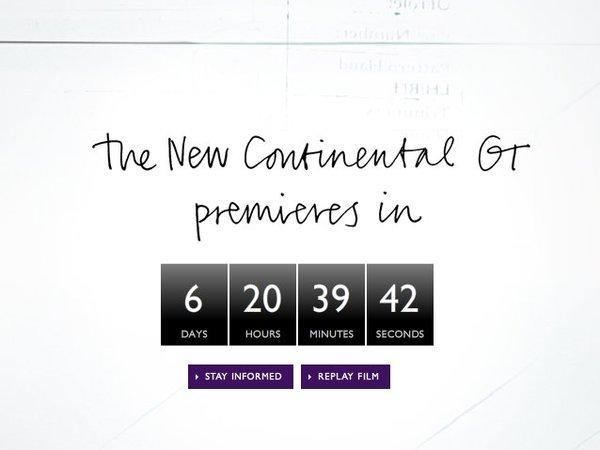 Mondial 2010 : la nouvelle Bentley Continental GT dévoilée le 7 septembre