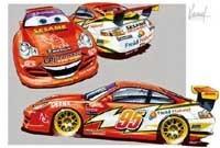François Duval aux 24 Heures de Spa sur Porsche