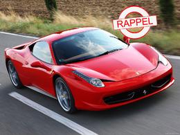 C'est officiel : la Ferrari 458 Italia est rappelée pour risque d'incendie