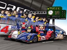 Stéphane Lecointe illustre les 24 Heures du Mans de Soheil Ayari et de ses équipiers