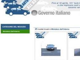 Italie : le gouvernement met en vente ses autos sur eBay