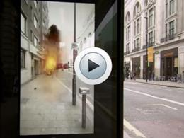 A Londres, un arrêt de bus surprend les usagers