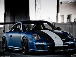Porsche 997 GT3 RS Royal Muffler. Oh la belle bleue !