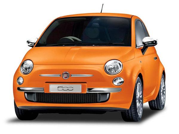 Fiat 500 Arancia : orange et japonaise