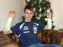 Superbike - Suzuki: Jules Cluzel a passé les Fêtes à l'hôpital