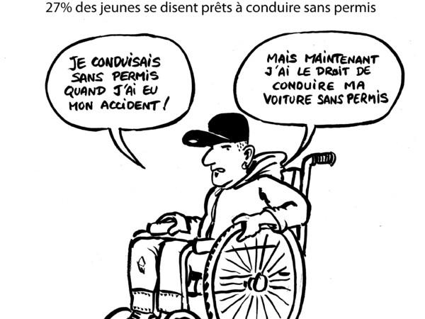 Le dessin du jour jeunesse insouciante - Dessin humoristique voiture ...