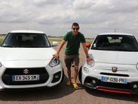 Comparatif vidéo - Les essais de Soheil Ayari - Abarth 595 vs Suzuki Swift Sport