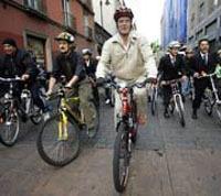 Mexico à vélo : le maire montre l'exemple