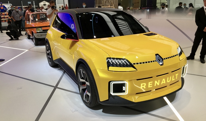 Renault R5 Electric : futur best-seller made in France - Vidéo en direct du Salon de Munich 2021