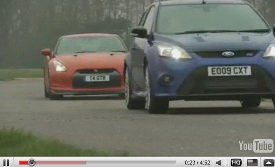 [vidéo] : Nissan GT-R/Ford Focus RS, laquelle choisir ?