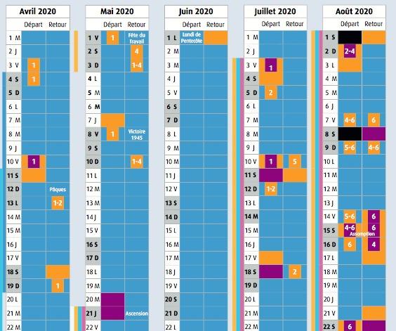 Prévisions de Bison Futé : de nouvelles couleurs pour les daltoniens