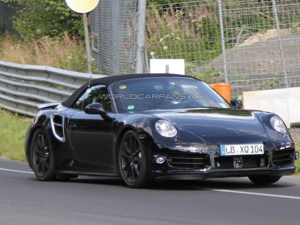 Surprise : la future Porsche 911 Turbo Cabriolet est en test sur la Nordschleife