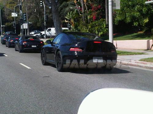 Spyshot : un défilé de futures Porsche à Beverly Hills