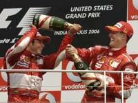 Superbe doublé Ferrari à Indianapolis