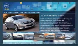 Un site Opel dédié au design