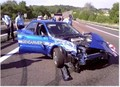 La gendarmerie casse la première Subaru WRX..