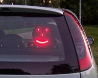Des smileys pour communiquer en voiture !