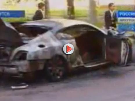 [Vidéo] Une Bentley Continental GT brulée en Russie