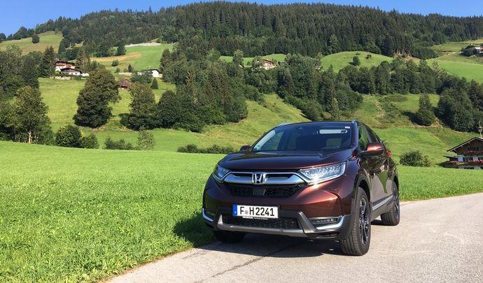 Honda CR-V (2018) : les premières images de l'essai en live