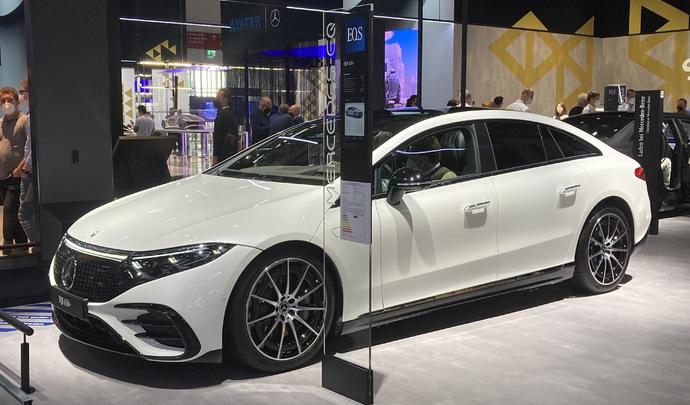 Mercedes EQS : la vitrine - Vidéo en direct du salon de Munich 2021