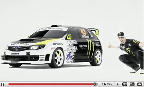 vid o ken block gymkhana 2 la voiture. Black Bedroom Furniture Sets. Home Design Ideas